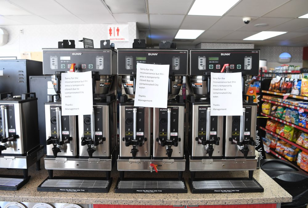 The Loaf N Jug convenience store in Hugo didn't stock coffee on July 22, 2016 after officials found THC in the town's water supply. The Colorado Bureau of Investigation is conducting tests on the water. (RJ Sangosti, The Denver Post)