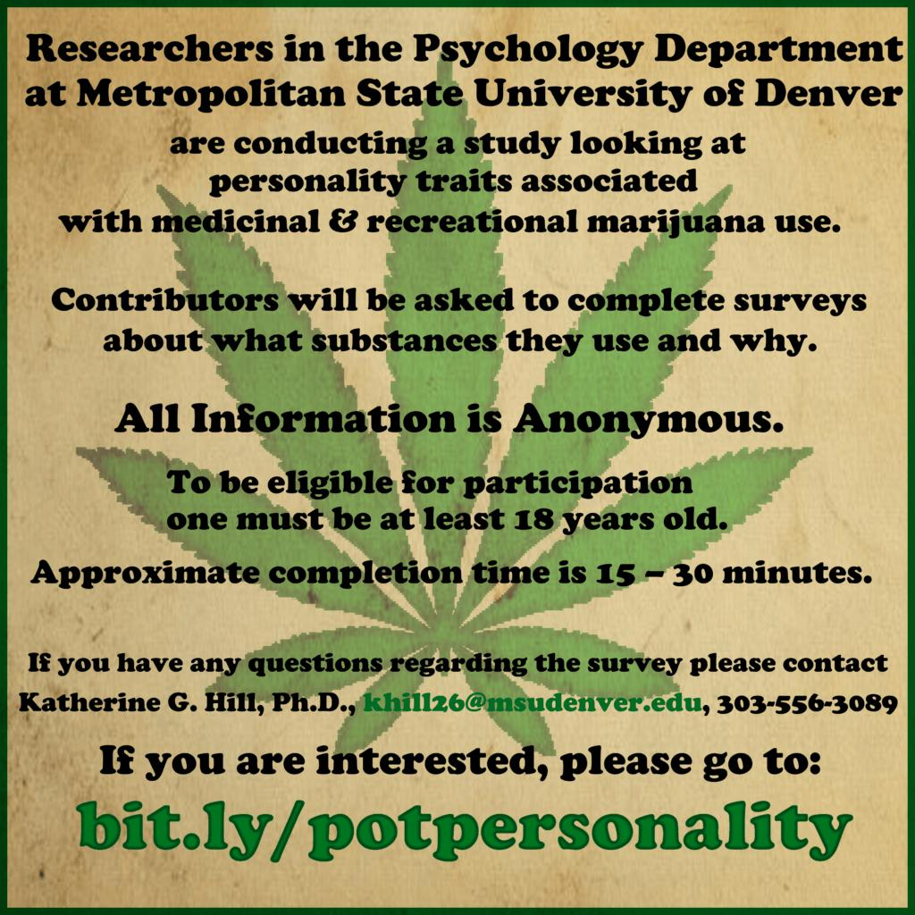Searching for a Blunt Analysis: Cannabis Use, Personality